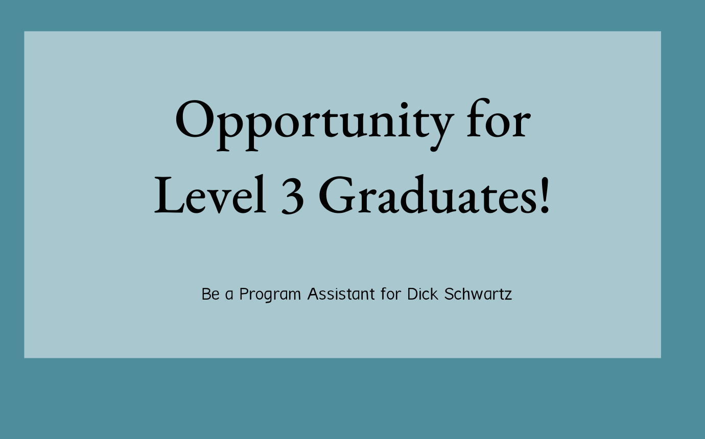 Opportunity for Level 3 Graduates